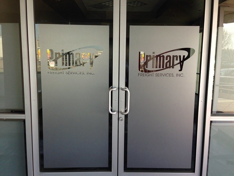 Etched And Frosted Window Graphics South Windsor Ct